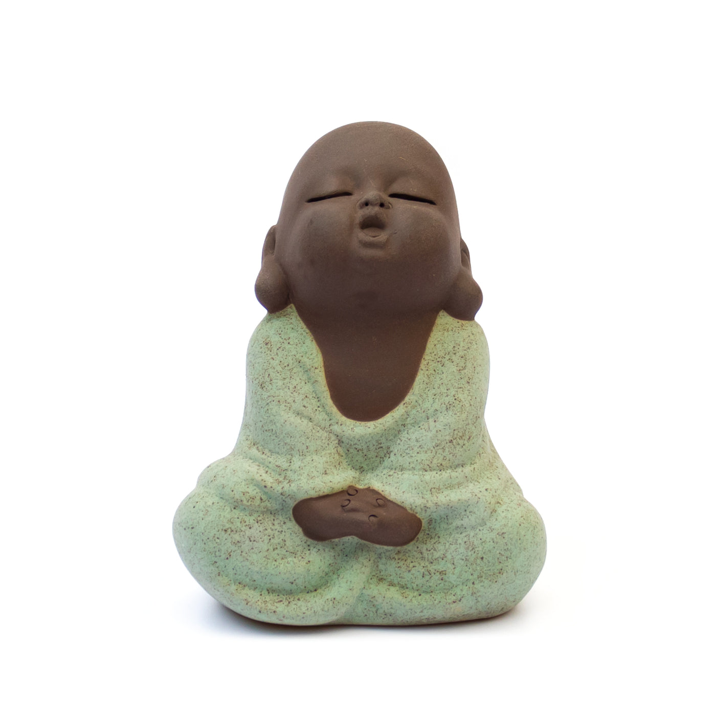 Small Buddha Statue - Om - Purple Clay Buddha - Meditation Statue