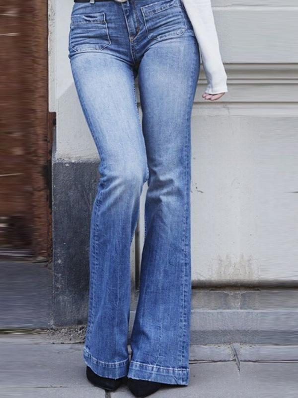 High Waist Vintage Bell Bottom Jeans