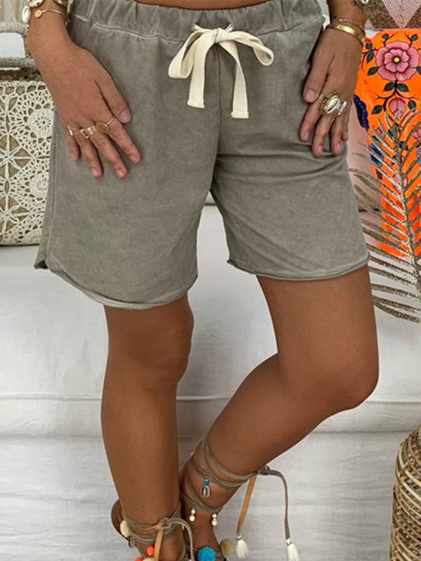 Faded Wash Casual Loose Shorts
