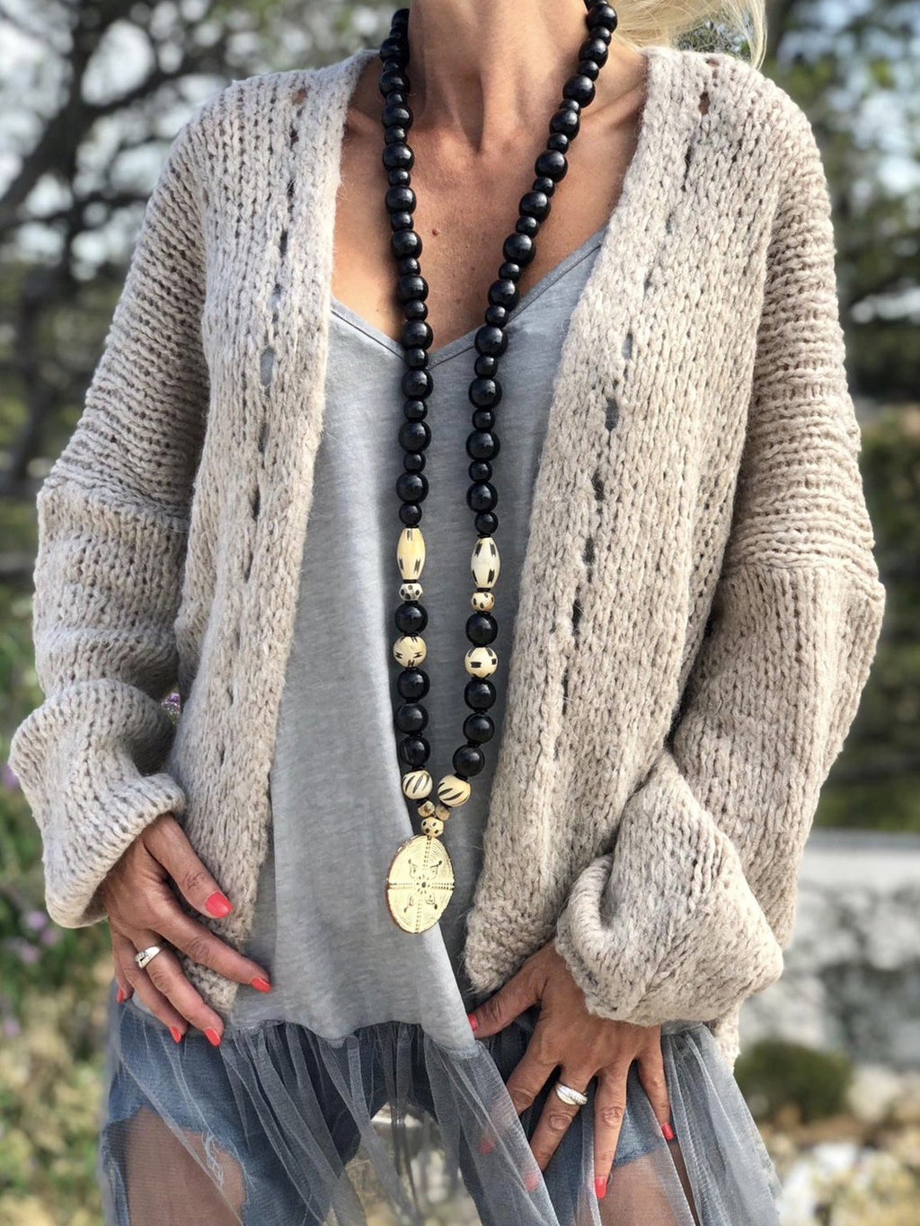Casual Pure Colour Long Sleeve Cardigans - LuckinChic.com