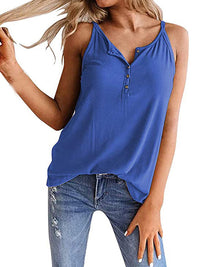 Sexy Solid Color Sleeveless Tank Top - Luckinchic