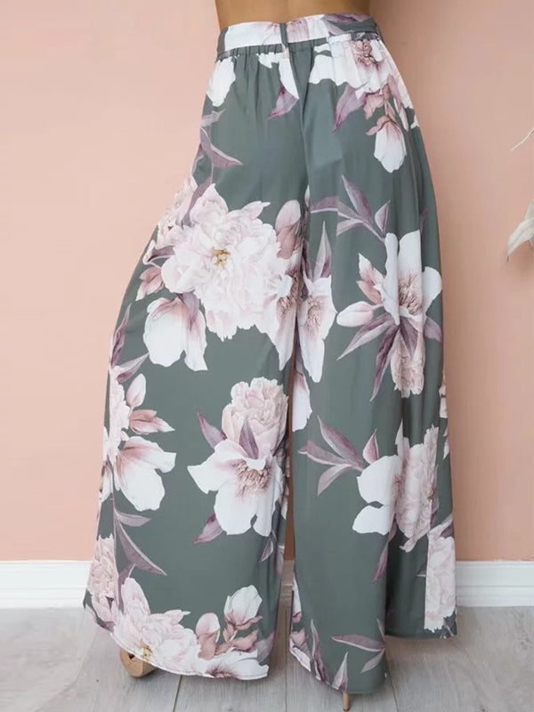 Floral Printed Loose Pants Pants & Leggings