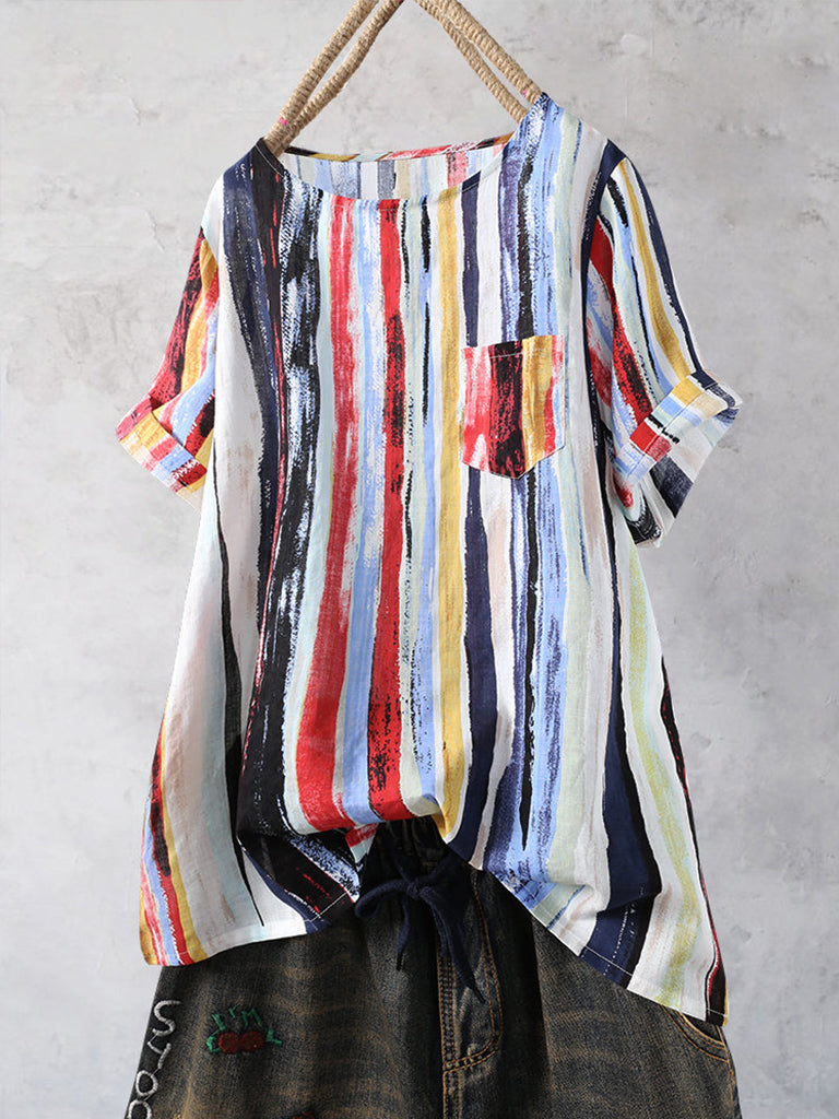Multi Color Striped Casual Shirt