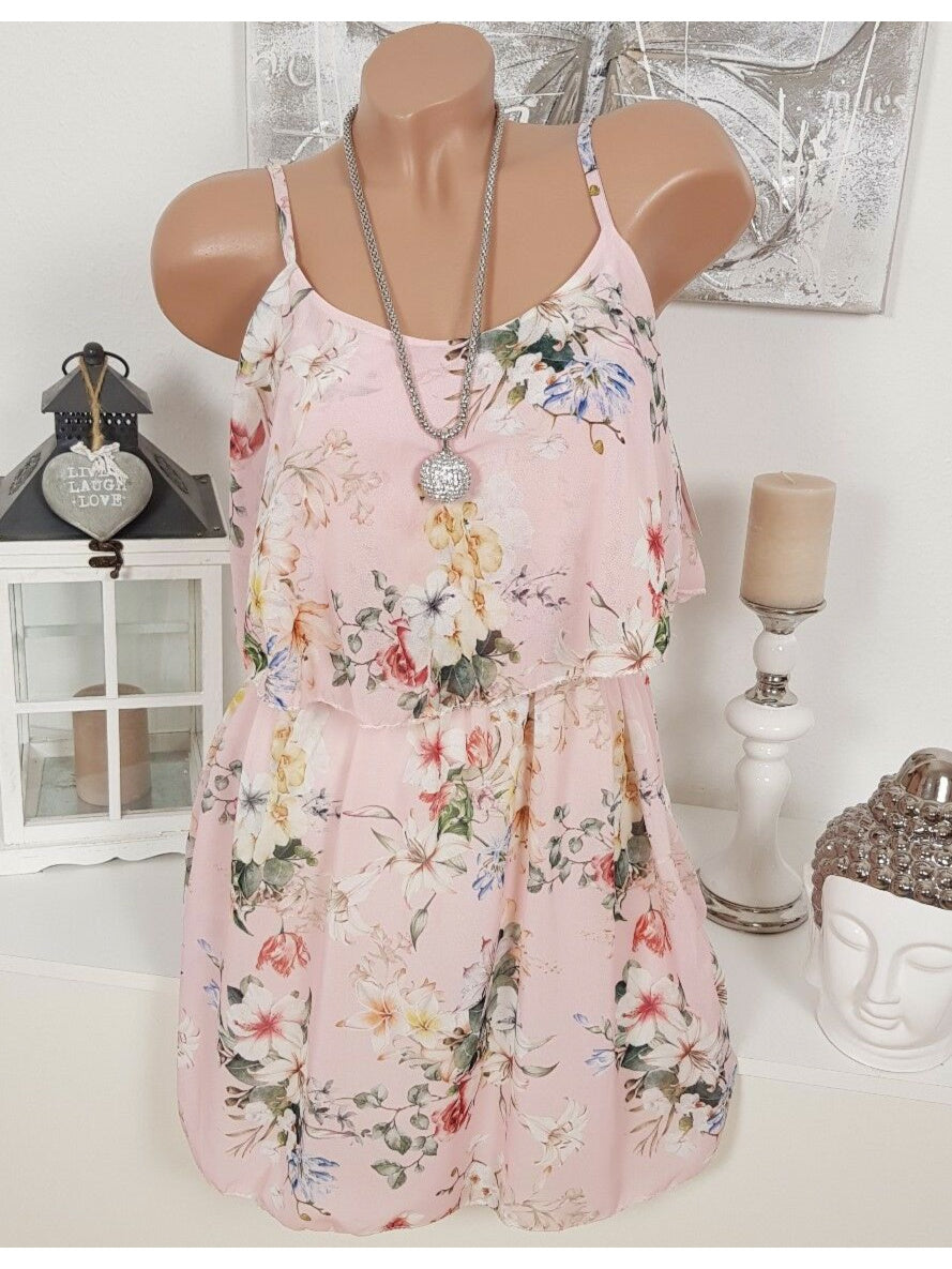 Floral Sleeveless Summer Beach Mini Dress