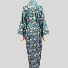 Load image into Gallery viewer, Dahlia Robe (Light Grey Blue)