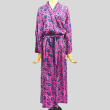 Load image into Gallery viewer, Dahlia Robe (Pink & Blue Flowers)
