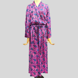 Dahlia Robe (Pink & Blue Flowers)