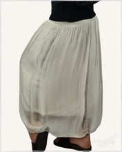 Load image into Gallery viewer, Summer Silk Maxi Skirt (Beige) - WillowTribe