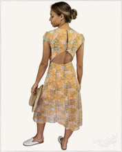 Load image into Gallery viewer, Faye Midi Dress (Mustard) - WillowTribe