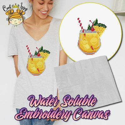 Water Soluble Embroidery Canvas