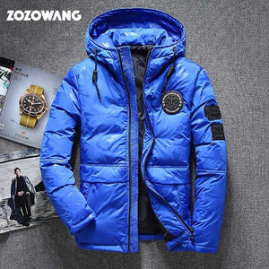 ZOZOWANG High quality men's winter jacket thick snow parka overcoat white duck down jacket men wind breaker down coat size 4XL