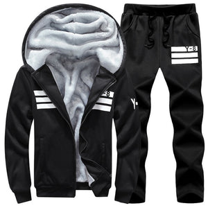 Big Size 7XL 8XL 9XL Brand Men Sets Autumn winter Sporting Suit Sweatshirt + Sweatpants Mens Clothing 2 Pieces Sets Tracksuit
