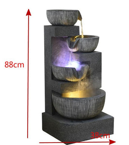 Fountain Home Decoration Creative Tv Cabinet Decoration Circulating Flower Feng Shui Wheel Water Feature Decoration