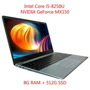 Open image in slideshow, I5-8250U 8G RAM Intel Laptop NVIDIA GeForce MX150 ноутбук Layout Keyboard Netbook Business Office Gaming Notebook Computer