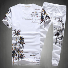 2019 New Summer Beach Shorts Sets Men Casual Coconut Island Printing Suits Mens Clothing Suit Male Sets T Shirt +Pants 5XL