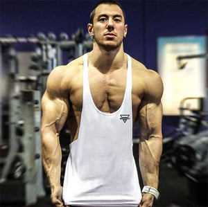 Open image in slideshow, New Bodybuilding Stringer Tank Top Men Fitness Clothing Gyms Shirt Brand Muscle vest Workout Cotton Regatas Masculino
