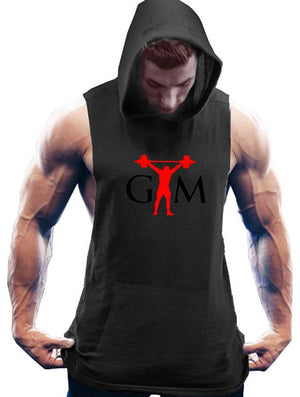 Open image in slideshow, 2020 summer Cotton Tank Tops New Gyms Men Hooded Sleeveless Shirt Street Workout Fitness Tanktop Hoodie Bodybuilding Clothes
