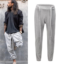 High Street Gray Black Joggers Sweatpants Mens Solid Straight Loose Casual Harem Pants Harajuku Oversize Baggy Trousers