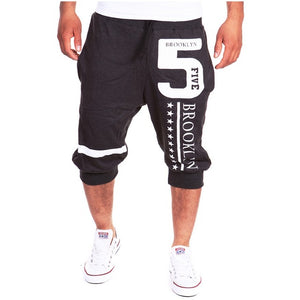 New Fashion Casual Shorts Mens Trousers Elastic Brand Jogger Shorts Men Fitness Short Pants Wear 13DK01