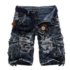 Shorts Men Cotton Military Army Cargo Shorts Men's Shorts Homme Casual Trousers Plus Size 38 2017 Brand New Fashion clothing