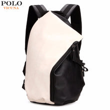 VICUNA POLO Dumpling Shape Patchwork Color Preppy Style Leather Backpack For Men Trendy School Men's Travel Backpack Man Bag