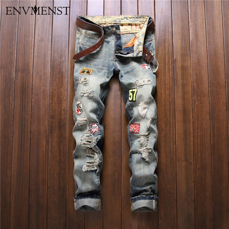 European American Style fashion brand cotton men jeans luxury