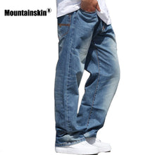 Mountainskin Fashion Men's Jeans Streetwear Retro Denim Jeans Men's Pants Hiphop Old Jeans Male Casual Loose Plus Size JA463