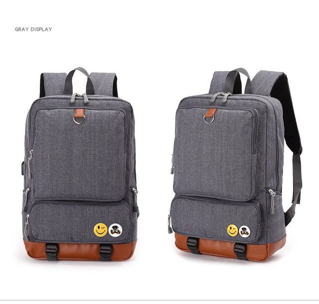Fashion Multifunction USB charging Men  Laptop Backpacks For Teenager Male Mochila Leisure Travel backpack anti thief