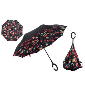 Open image in slideshow, Windproof Reverse Folding Umbrella