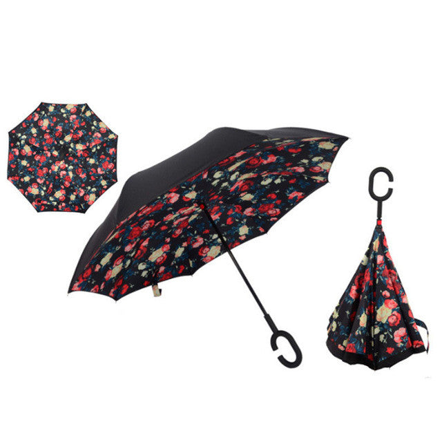 Windproof Reverse Folding Umbrella