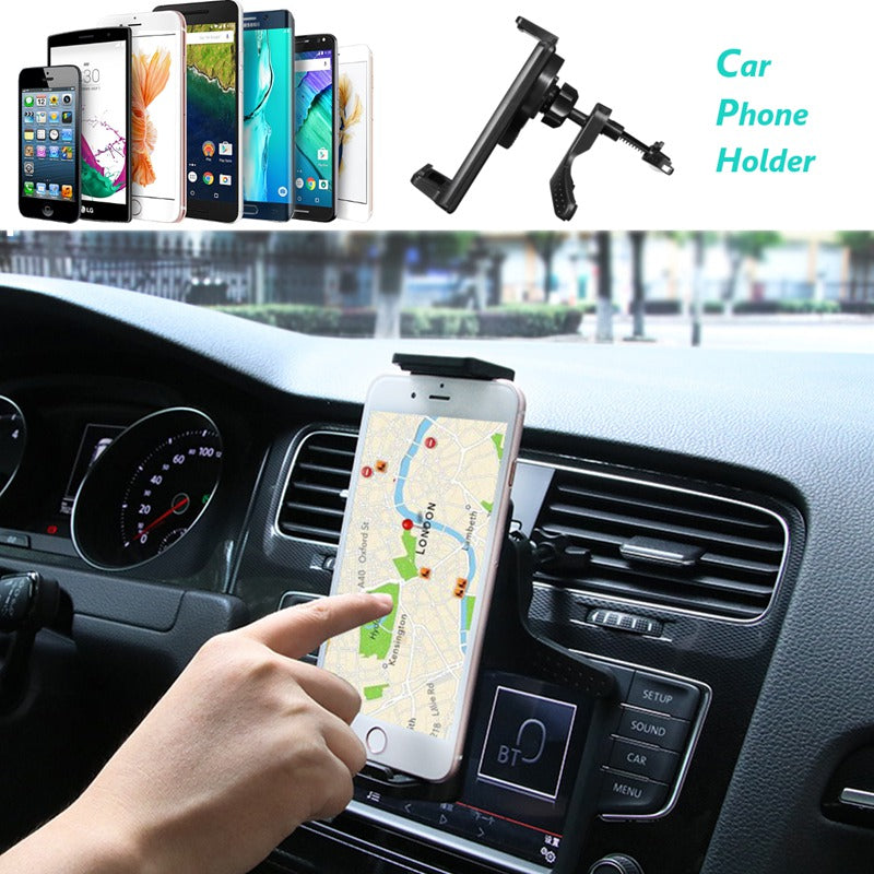 Universal 360 Degrees Rotating Air Vent Car Stand Mount Holder For Cell Phone New Tablet Holder Mount Stand For iPad For Samsung