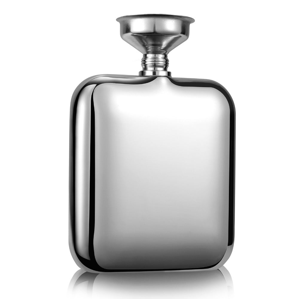 Stainless Steel Portable 120ml Wine Whiskey Flask Hip Flask With Free Funnel Shot Glass Wine Bottle Drinkware