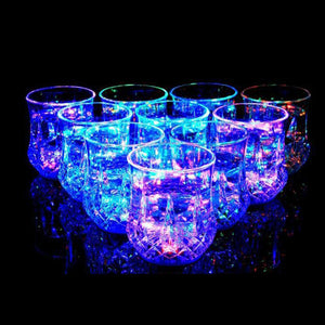 New LED Inductive Flash Light Luminous Wine Whisky Cup Flash Light Beer Shot Drink Cup Party Club Wine Cup Bar Hotel Drinkware