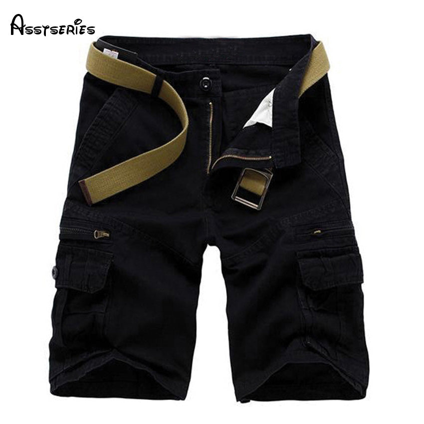 Hot sell multi pocket tooling loose mens shorts trousers men patch decoration casual man 5 minutes of shorts 60wy