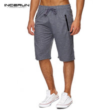 INCERUN Summer Men's Knee Length Drawstring Shorts Casual Gyms Bodybuilding Shorts Men Bermuda masculina Fitness Sweatpants