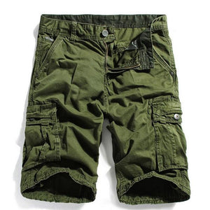 HEE GRAND Men Casual Shorts 2018 New Arrival Knee Length Whole Cotton Material Multi-pockets Cargo Shorts Size 29-40 MKD1271