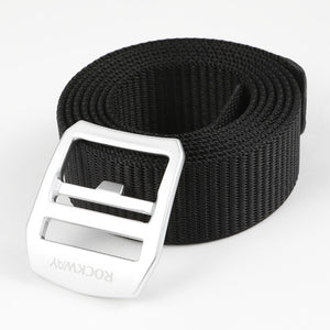 Men's Webbed Belt Removable Alloy Buckle Freely Adjustable Nylon Belt