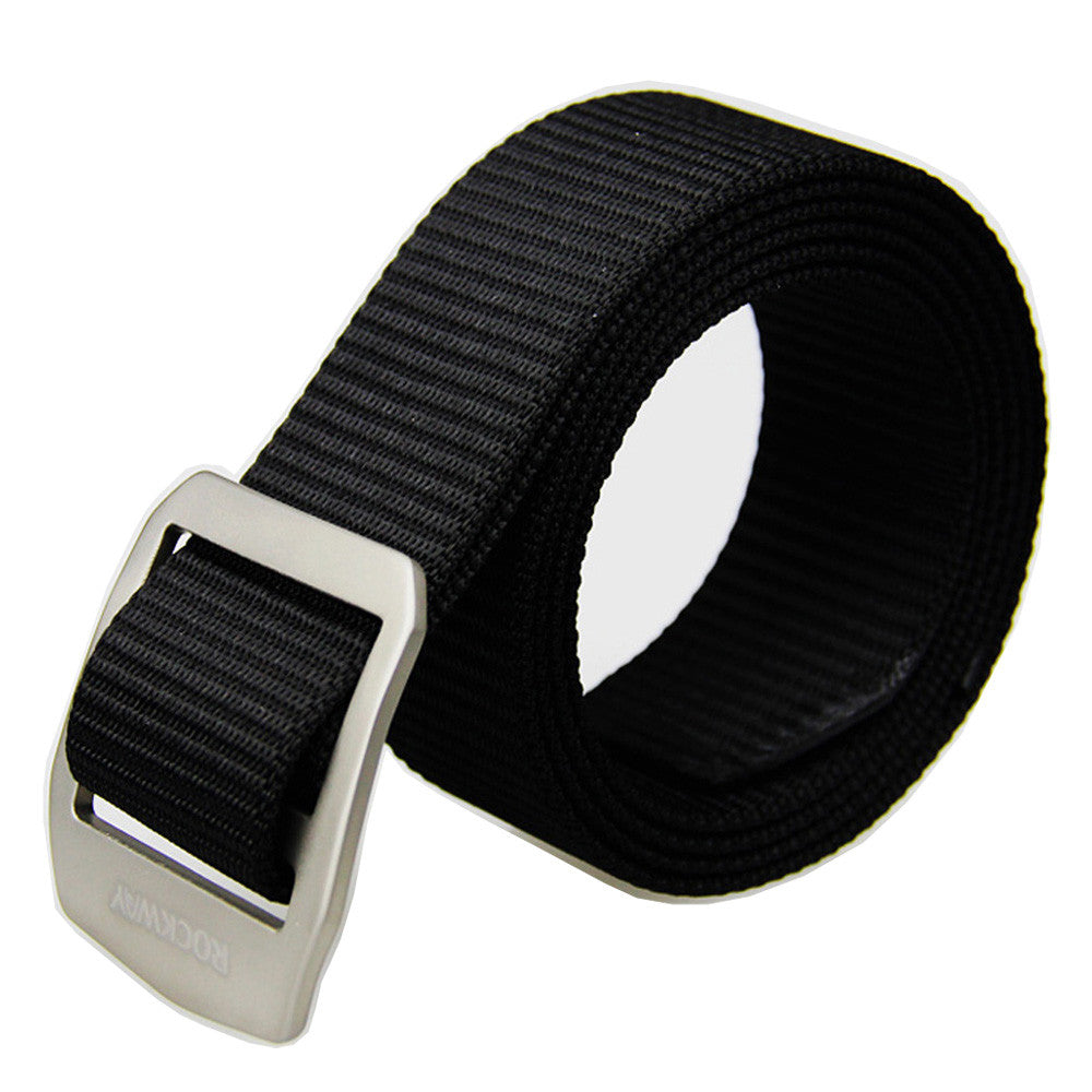 Unisex Patent Healthy Titanium Buckle and Sturdy Web Belt Nickel Free and Adjustable 1.5 inches Wide (2 Belt Straps, one buckle)