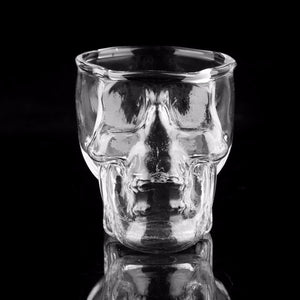 Skull-Head Shot Glass Cup Wine Mug Beer Glass Mug Crystal Whisky Vodka Tea Coffee Cup 80ml Gift Water Bottle