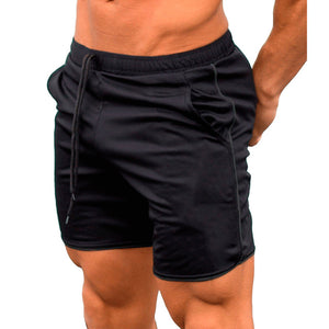 Quick Dry Shorts Men Summer Men's Casual Shorts Solid Fitness Man's Short With Pockets Straps Inside Trunks Beach Shorts 2018