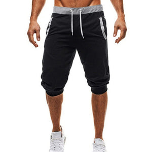Open image in slideshow, New Fashion Mens Baggy Jogger Casual Slim Harem Short Slacks Casual Soft Cotton Trousers Shorts A4
