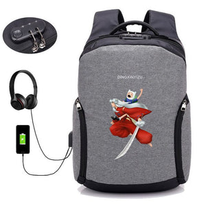 Japan anime Inuyasha backpack USB external hole Anti thief  Travel Laptop bag school student book backpack 8 style