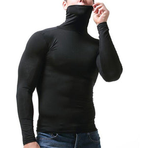 Autumn Winter New Thermal Underwear Men Warm Long Johns High Neck Long Sleeve Pajamas Comfortable Modal Solid Men's Warm Tops