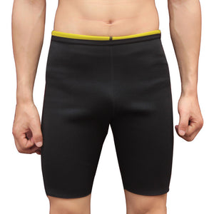 Men Slimming Body Shapers Super Stretch Shorts Pants Hot Sweating Fitness Weight Loss Burn Fat Control Panties Drop Ship