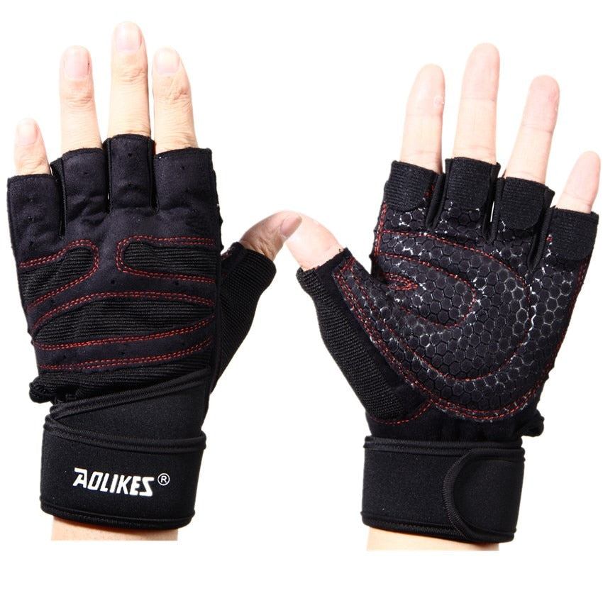Sports Gym Gloves Half Finger Breathable Weightlifting Fitness Gloves Dumbbell Men Women Weight lifting Gym Gloves Size L/XL