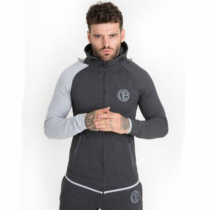 Autumn Men Skinny Hoodies Sweatshirts Male Gyms Fitness Bodybuilding Sportswear Casual Fashion Cotton Zipper Jacket Jogger Coats