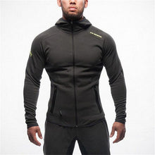 Mens Fitness Bodybuilding Sweatshirt Hoodie Gyms Workout Hooded Zipper Jacket Male Joggers Sportswear Casual Brand Clothing Tops
