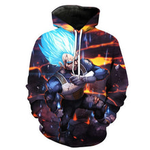Naruto Dragon Ball Z Hoodies 3D Print Pullover Sportswear Sweatshirt Dragonball Super Saiyan Son Goku Vegeta Vegetto Cosplay