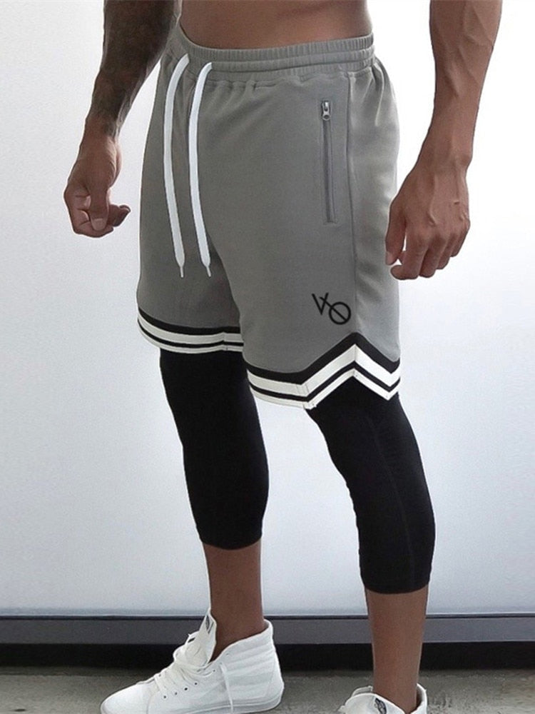 Men's 2019 fitness shorts European brand men's fitness fast dry shorts men's casual shorts workout clothes mesh Sweatpants