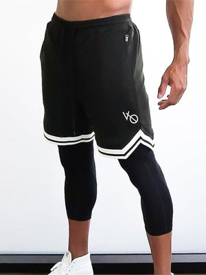 Open image in slideshow, Men's 2019 fitness shorts European brand men's fitness fast dry shorts men's casual shorts workout clothes mesh Sweatpants